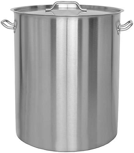 Beeketal 'BKT-115' Gastronomie Kochtopf ca. 111 Liter aus Edelstahl mit starken Griffen und Deckel, Topf für alle Herdarten geeignet (Induktion, Gas, Glaskeramik), ideal als z.B. Suppentopf
