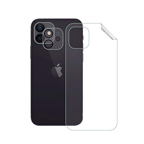 Weideworld [2 Pack Pellicola Fotocamera + Pellicola Protettiva Posteriore per iPhone 12 Mini, Durezza 9H AntiGraffio Vetro Temperato Fotocamera e Pellicola Posteriore per iPhone 12 Mini(5.4')