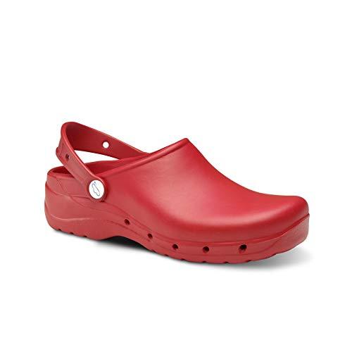 Feliz Caminar - Zuecos Sanitarios Flotantes Rojo, 39