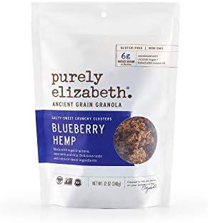 Purely Elizabeth Ancient Grain Granola Cereal Blueberry Hemp, 12 Ounce