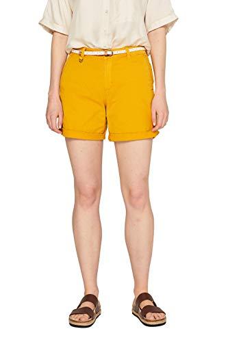 Pantalones cortos amarillos de mujer