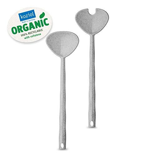 koziol 3649670 Salatbesteck, Thermoplastischer Kunststoff, organic grey