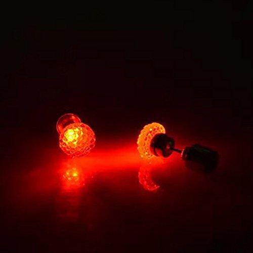 Busirde Pendiente Pendientes de 1 par LED Que Brilla la luz de Bling Cristal Brillante del oído