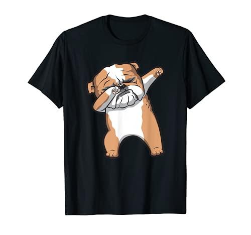 English Bulldog Cute Dabbing Funny Dab Dance T-Shirt