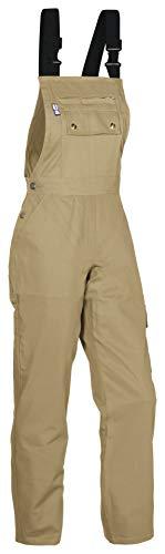 PKA Damen Latzhose, 100% Baumwolle,elastische Träger
