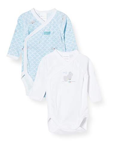 Absorba 6Q62076-RA-Bodys Body, Bleu Moyen, 0-3 Mois (Taille Fabricant:3M) Bébé garçon
