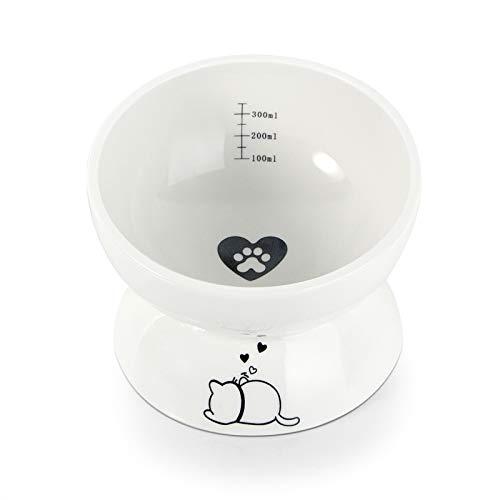 Burncalue Futternäpfe Katzenfutter, Schräge Katzennapf and futternapf Hund für die Beste Fütterungshaltung, für Katze Welpe Futter und Wass