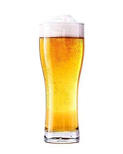 YNC - Juego de 6 vasos de cerveza de trigo calibrados en...