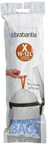 Brabantia - 116728 - Sacs poubelle PerfectFit pour NewIcon, rouleaux,code X, 12 litres