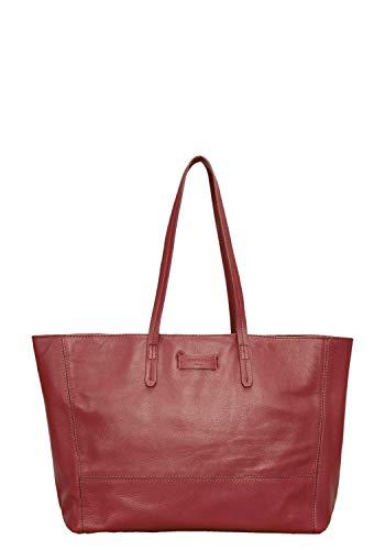 Liebeskind Berlin Damen Essential Shopper Large Schultertasche, Rot (Italian Red), 14x30x36 cm