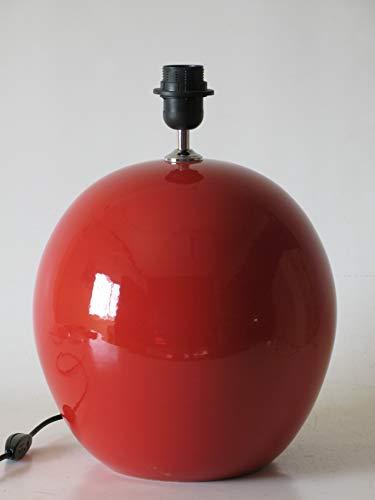 Lámpara de Ceramica Sobremesa Macro Hall Rojo de 35 cm Ocre, E27, 60 W - Pie de Lámpara de Cerámica Sobremesa Rojo Lacre.
