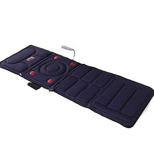 PIGE Materasso da Massaggio Elettrico -9 Set di Pad massaggiante Vibrante riscaldante, Riscaldamento Caldo, Design Pieghevole Portatile.
