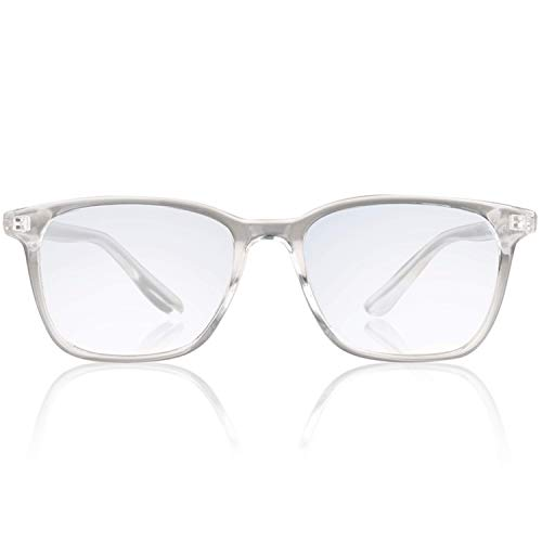 Brave Blue Light Blocking Computer Glasses with Anti Glare Clear Lens for PS4, Work, Gaming; Anti Eye Strain, Headache and Sleeplessness; Unisex (Men/Women) (Transparent)
