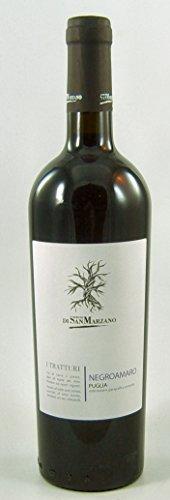 6 Flaschen I Tratturi Negroamaro IGP Puglia 2019 Feudi di San Marzano im Sparpaket (6x0,75l), trockener Rotwein aus Apulien