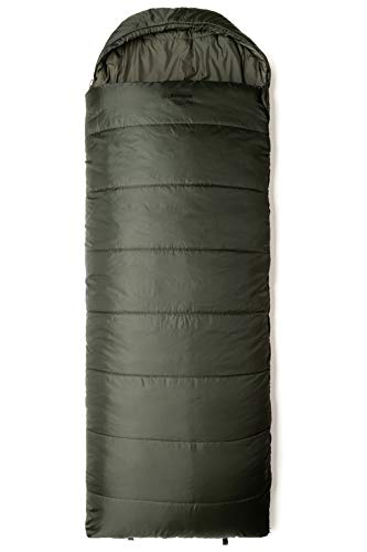 Snugpak Basecamp Ops Navigator Sleeping Bag with Compression Stuff Sack, Left Hand Zip, Olive