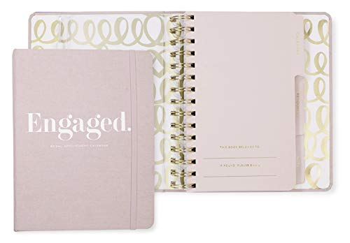 Product Image 1: Kate Spade New York Undated Wedding Planner Organizer Weekly and Monthly, Bridal Appointment Calendar Book, Engaged (Blush)
