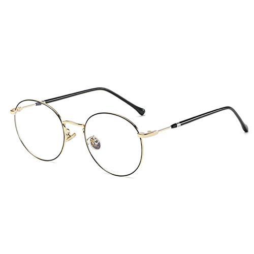 Xiton Retro Round Computer Gläser Chic Blue Light Sperr Brille dünne Rahmen Spiel Brillen schwarz und Golden