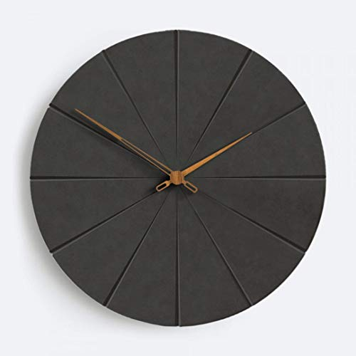 Moderne Lautlose Design MDF Wanduhr 30cm Minimalistisch für Wohnzimmer Schlafzimmer Wand Uhr Schwarz (Schwarz 3, 30 cm)