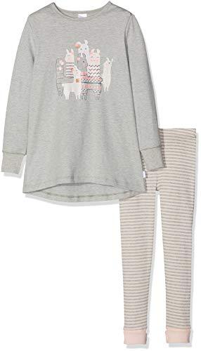 Schiesser Mädchen Md Anzug lang Zweiteiliger Schlafanzug, Grau-Mel. 202, 116