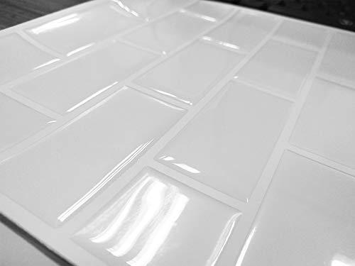 Carrelage Mural Adhésif - (10 Pièces 22 x 22 cm) - 3D Autocollant Mural Imperméable Auto-adhésif en Forme de Brique la Salle...