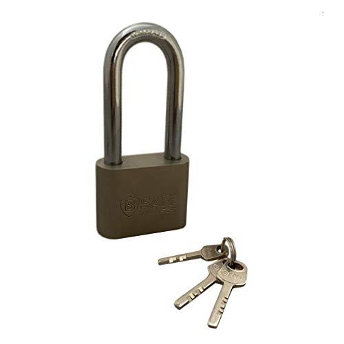 MEGA 40mm Massive Vorhängeschloss, Sicherheitsschloss mit langem Bügel, wetterfeste Bügelschloss inkl. 3 Schlüssel