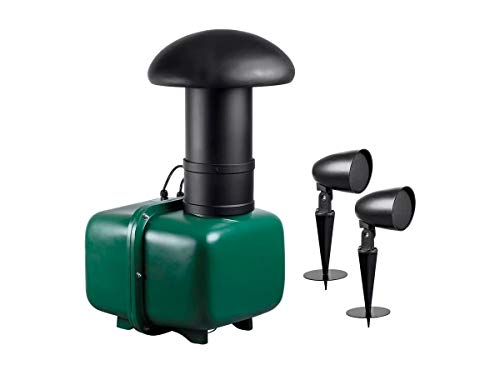 Monoprice Outdoor 2.1 Speaker System 8-inch Subwoofer 2.5-inch Satellites (3 Piece) - Sycamore Series Black