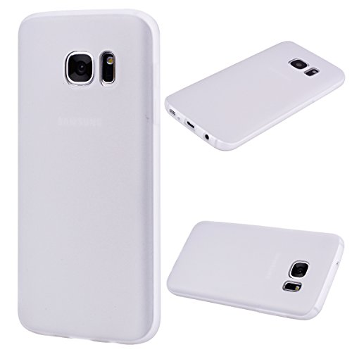 Forhouse Hülle Samsung Galaxy S7 Edge Anti-Scratch, Slim Back Cover Personality Design Clear TPU Hülle Back Cover for Samsung Galaxy S7 Edge - White