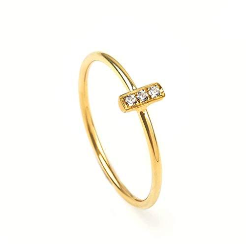 Elegant jewel box Minimalist bar ring with 3 diamonds, Tiny bar ring for women in solid gold 9k,14k,&18k