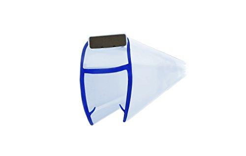 Duschdichtung-Set mit Magnetlippe, 200 cm, PVC Ersatzdichtung Transparent, für 6 mm Glasstärke I 45 Grad Magnetlippe