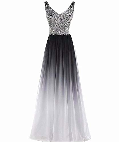 Beilite Women's Top Gradient Evening Prom A Line Gowns