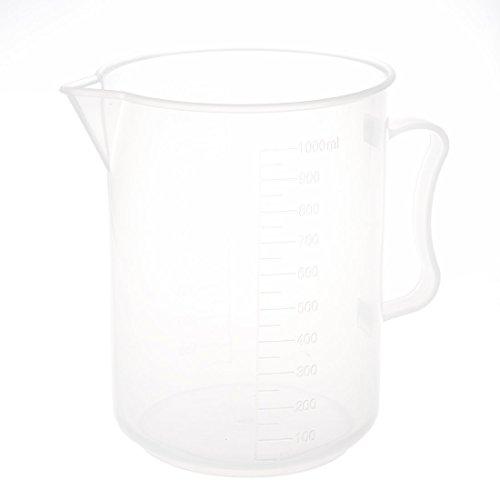 SODIAL(R) 1000mL Capacite Plastique Transparent Gradue Laboratoire mesure ensemble becher