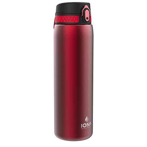 Ion8 Borraccia Termica 1 Litro Acciaio Inox, Senza Perdite, Rosso