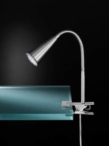Wofi 286601640000 Arcos LED Spot/Lampe de Table GU10 0,75 W Nickel Mat 40 cm
