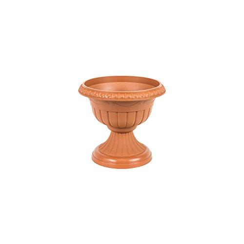 Pot de fleur en plastique Roma avec soutien, ht. 13.5 cm, en terre cuite