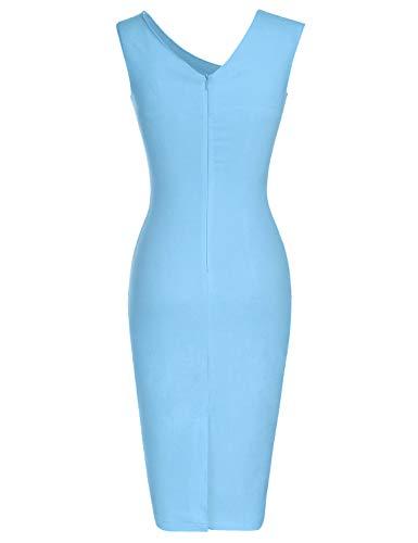 MUXXN Ladies Pinup 1930s Tea Length Spring Graden Rockabilly Dress (Grass Green L)