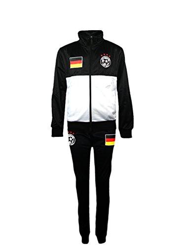 Juego de chándal para niño, equipación de fútbol, talla para edades de 4-12años, color Alemania, tamaño 10 (8-9 ans)