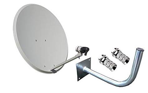 Kit Antena PARABOLICA 60cm Marca Tecatel + Soporte Pared + LNB Illusion