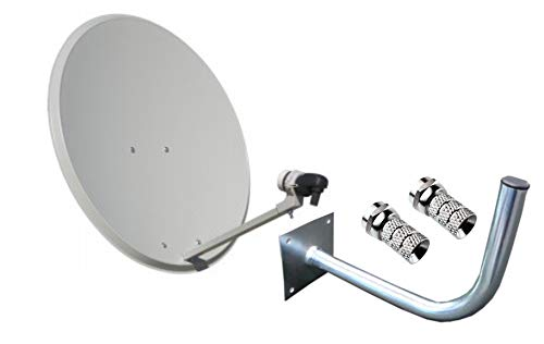 Kit Antena PARABOLICA 60cm Marca Tecatel + Soporte Pared + LNB Illusion
