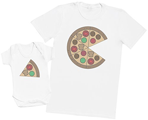Zarlivia Clothing Pizza and Pizza Slice - EIN Teil - Teil des Sets - Weiß - 0 Monate - Baby/Kinder