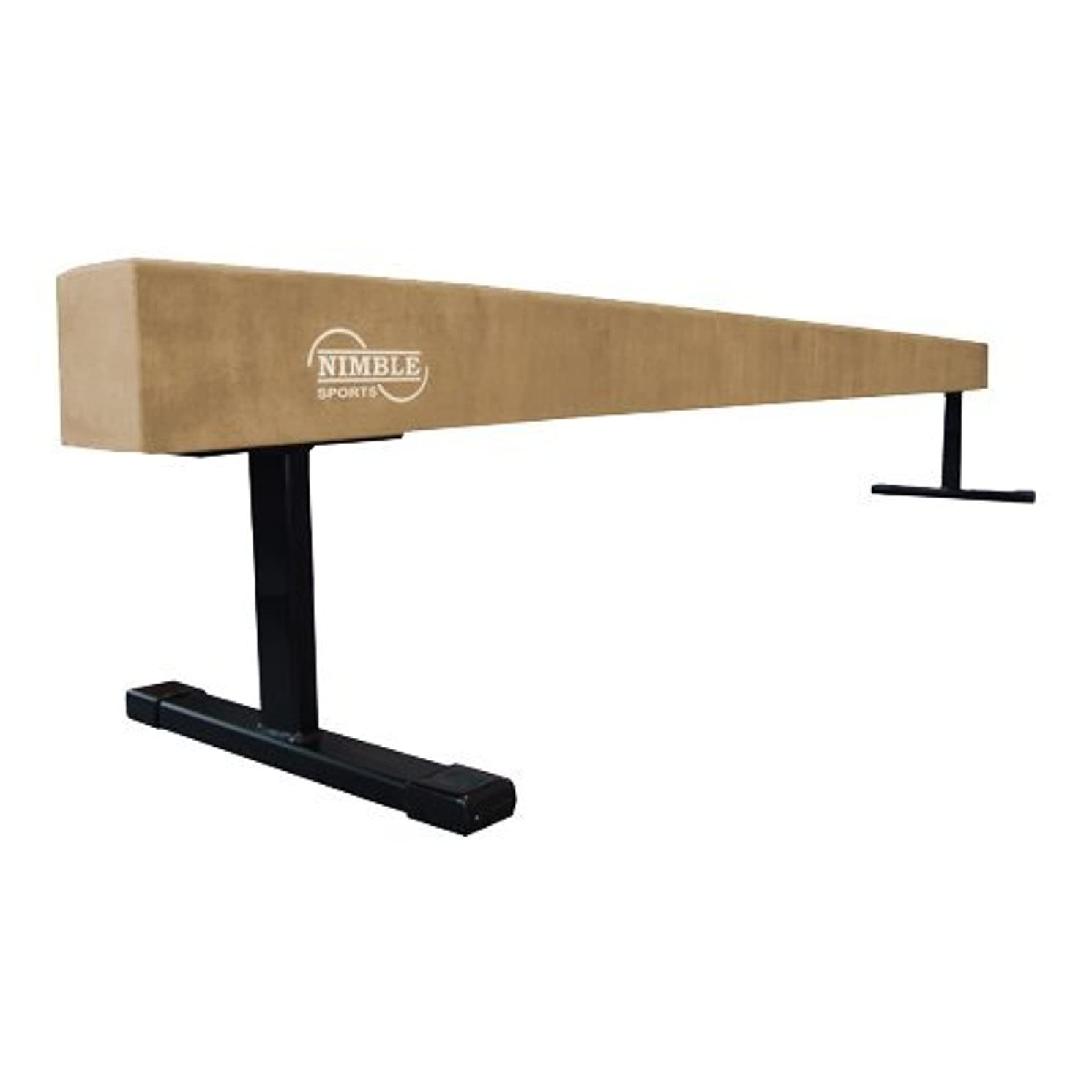 Nimble Sports Tan Suede Balance Beam, 18 Inches High, 8 Feet Long