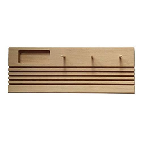 SJHFG Portarollos de madera con marco de retazos y regla para manualidades, herramienta de costura, soporte hecho a mano para bobinas