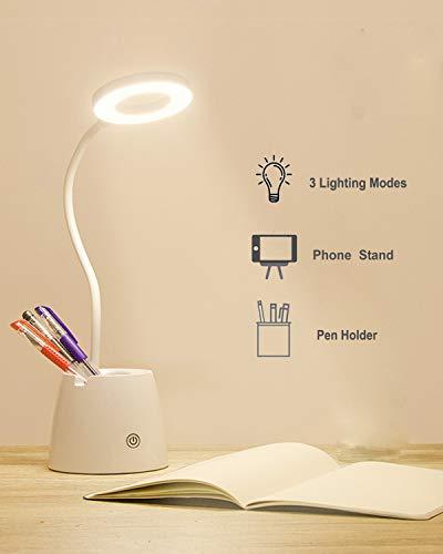 Lampada da Scrivania LED, Luce da Scrivania, Lampada da Tavolo per la Protezione Degli Occhi con 3 Modalità di Illuminazione, Dimmerabil