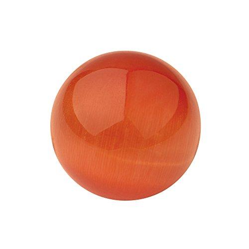 Quiges Glas 8 mm Eligo Kugel Cat Eye Orange für Silber Ring und Anhänger