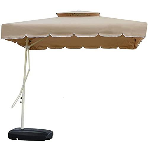 WXHXJY Sombrilla De JardíN En Voladizo De 2,2 M, Sombrilla De PláTano Colgante Grande con Mecanismo De Manivela, Parasol De JardíN Al Aire Libre, ProteccióN UV,Brown