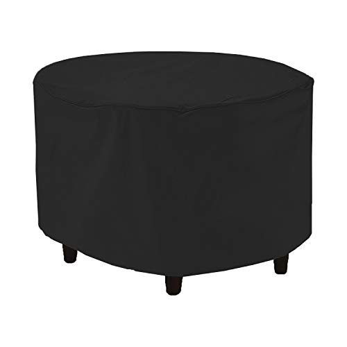 Outdoor Ottoman Cover 18 Oz - Waterproof & Weather Resistant Patio Furniture Covers - Square Ottoman Cover Heavy Duty Fabric with Drawstring for Snug fit (30\