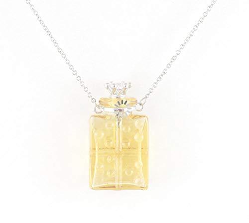 PicZhiwenture Collar de urna con medallón de Pelo para Mascotas, Collar de urna, Collar de Ceniza, Collar de urna de Recuerdo para Cenizas, Collar con medallón de Cristal