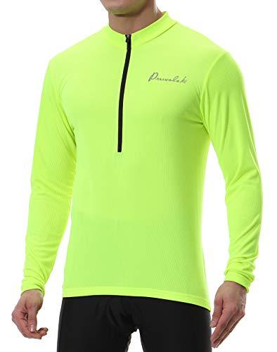 Przewalski Maillot de cyclisme pour homme à manches courtes/longues Vêtement de cyclisme, séchage rapide pour vélo de course, Noir/jaune, Homme, Gelb-Lose-Lang, s