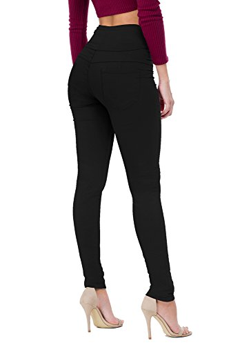 Women's Butt Lift V3 Super Comfy Stretch Denim Jeans P45074SK Black 3