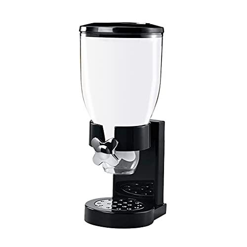 MagiDeal Multifuncional de Cereal dispensador de Alimentos Secos contenedor Pasta Candy Nuts Dispense máquina hogar Cocina encimera - Negro Solo