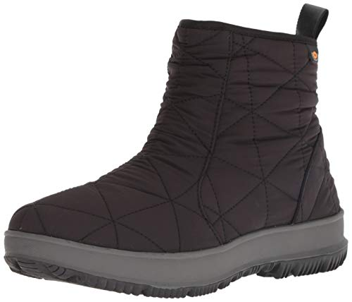 BOGS Women's Snowday Low Waterproof Insulated Winter Snow Boot, Black, 9 M US